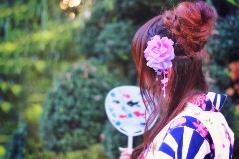 浴衣 髪飾り 夏祭
